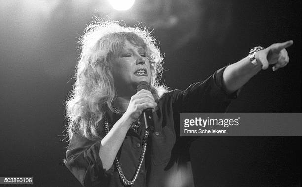 Alla Poegatsjova Russian rock Star performs at the Carre on 19th May 1987 in Amsterdam the Netherlands