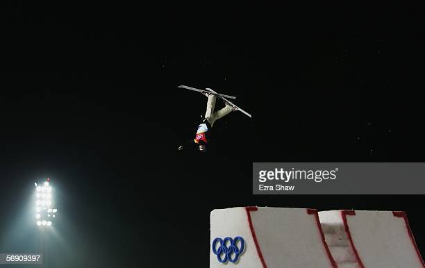 Alla Tsuper of Belarus competes in the Womens Freestyle Skiing Aerials Final on Day 12 of the 2006 Turin Winter Olympic Games on February 22 2006 in...