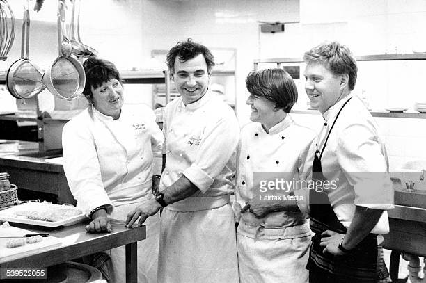 Alla Wolf-Tasker, Jacques Reymond, Annie Smithers and Richard Lovett, 24 August 1990