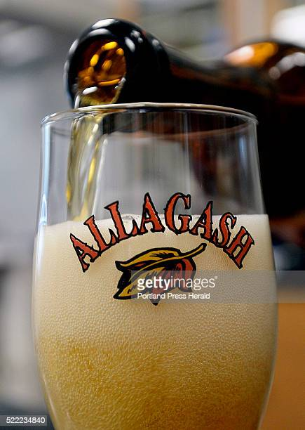 Allagash brewmaster Jason Perkins pours a glass of Sixteen Counties Wednesday April 13 2016
