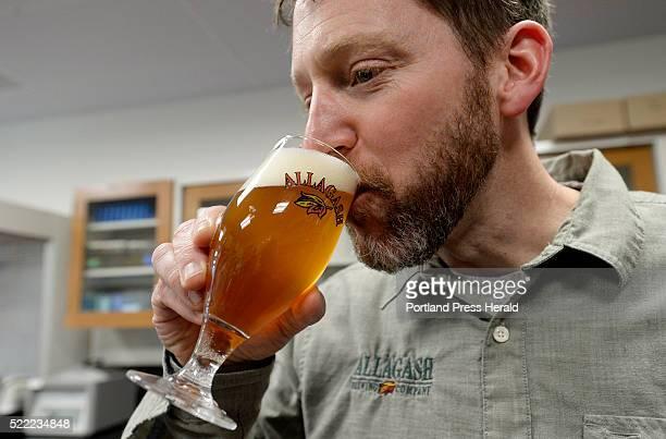 Allagash brewmaster Jason Perkins tastes Sixteen Counties Wednesday April 13 2016
