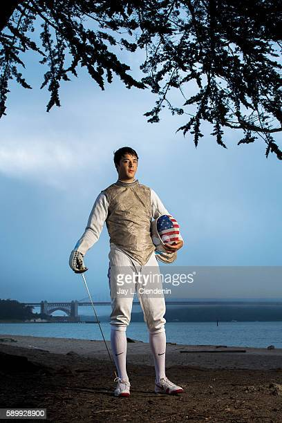 AllAmerican foil fencer Alexander Massialas is photographed for Los Angeles Times on June 17 2016 in San Francisco California PUBLISHED IMAGE CREDIT...