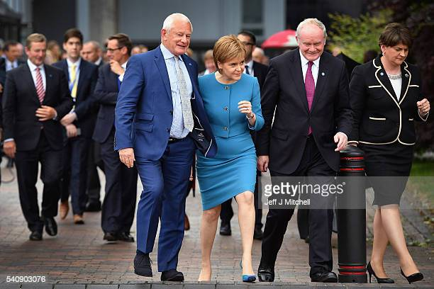 Allan Bell Chief Minister Isle of Man GovernmentNicola Sturgeon the First Minister of Scotland Martin McGuinness deputy First Minister of Northern...