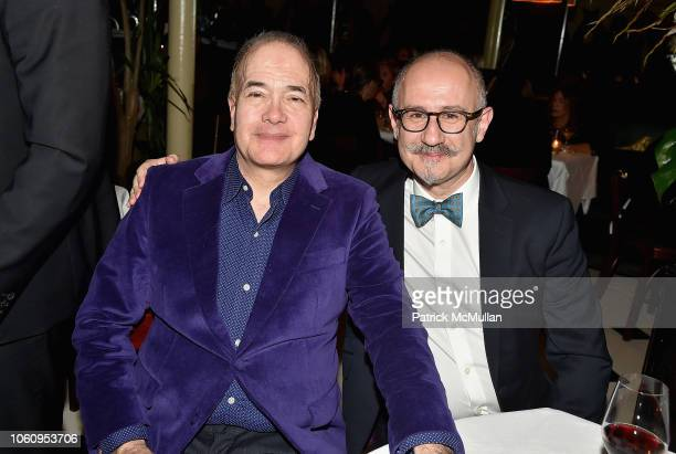 Allan Block and Joaquin Navarro attend The Andy Warhol Museum's Annual NYC Dinner at Indochine on November 12 2018 in New York New York