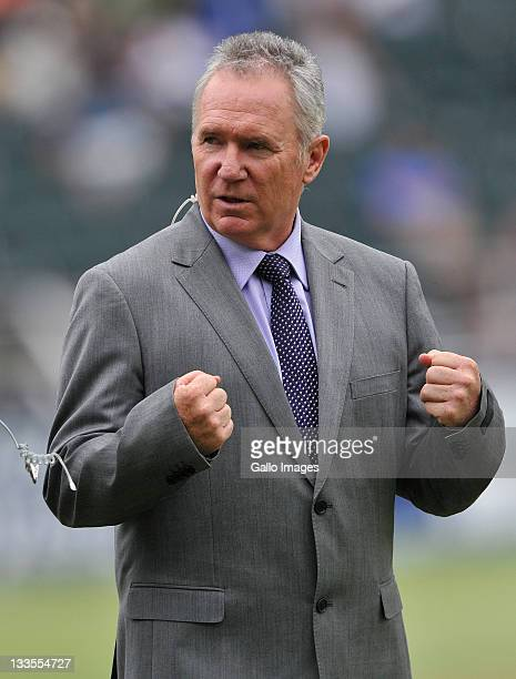 Allan Border attends day four of the 2nd Test match between South Africa and Australia at Bidvest Wanderers on November 20 2011 in Johannesburg South...