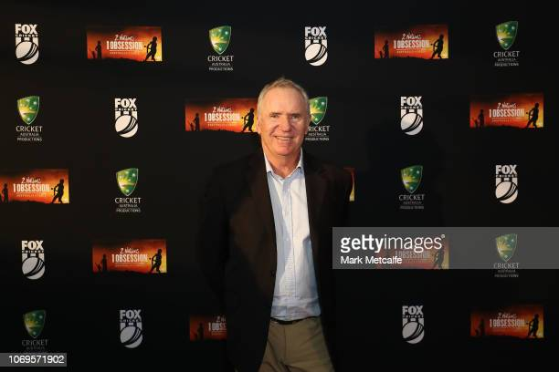 Allan Border attends the 2 Nations 1 Obsession Premiere Screening at the Australian National Maritime Museum on November 19 2018 in Sydney Australia