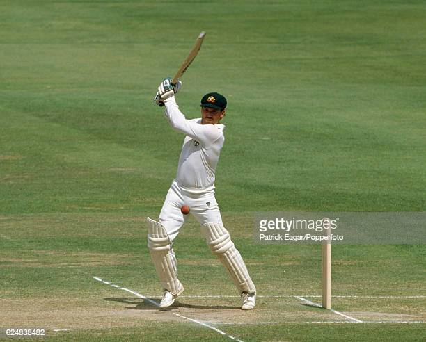Allan Border batting for Australia during his innings of 196 in the 2nd Test match between England and Australia at Lord's Cricket Ground London 28th...