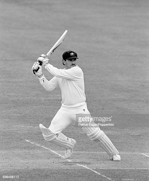 Allan Border batting for Australia during the 2nd Test match between England and Australia at Lord's cricket ground in London 28th June 1985
