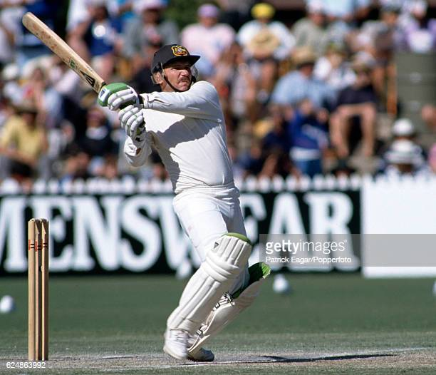 Allan Border batting for Australia during the 4th Test match between Australia and England at Adelaide Australia 28th January 1991