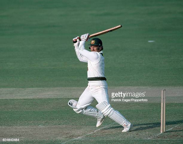 Allan Border batting for Australia during the Prudential World Cup in England June 1983