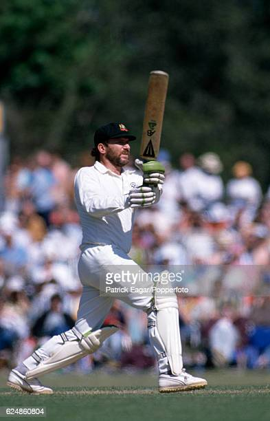 Allan Border batting for Australia during the tour match between Lavinia Duchess of Norfolk's XI and the Australians at Arundel 7th May 1989