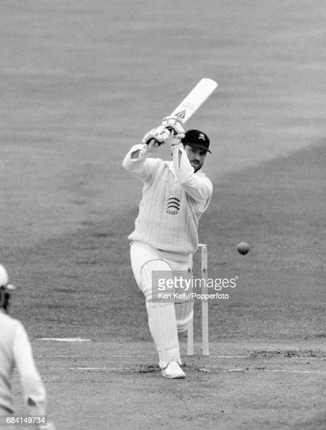 Allan Border batting for Essex during the Britannic Assurance County Championship match between Warwickshire and Essex at Edgbaston Birmingham 27th...