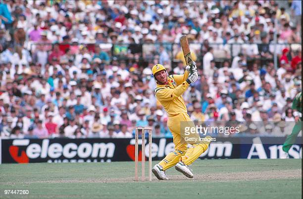 Allan Border of Australia bats during a One Day International match on December 14 1993 in Australia
