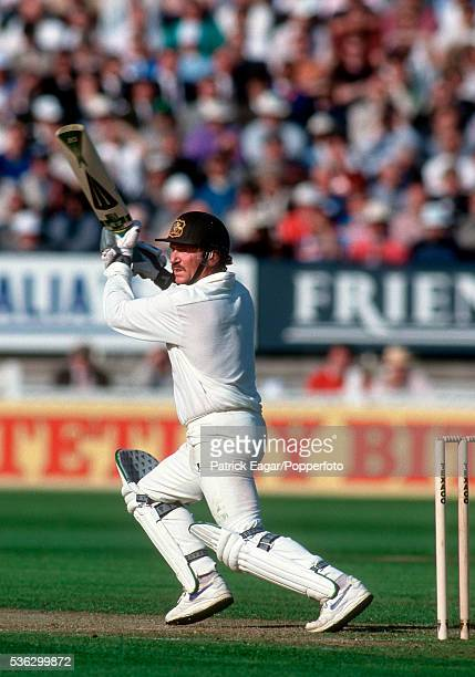 Allan Border of Australia batting during the 2nd Texaco Trophy One Day International between England and Australia at Edgbaston Birmingham England...