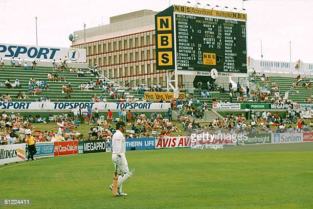 Allan Border of Australia walks to the crease in his last match during the 3rd Test Match between South Africa and Australia March 1993 in Durban...