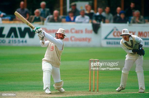 Allan Border of Essex batting during the Benson and Hedges Group Match between Essex and Gloucestershire at Chelmsford Essex 13th May 1986 The...