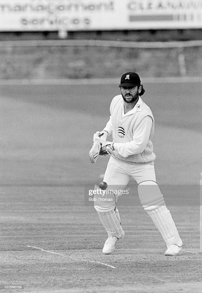 Allan Border of Essex during the Essex v Gloucestershire Benson and Hedges Cup match played at Chelmsford on the 13th May 1986.