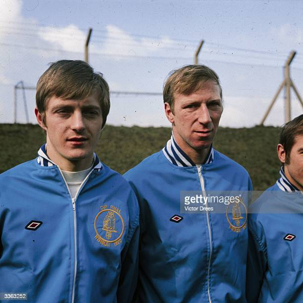 Allan Clarke and Jack Charlton in the Leeds United team line-up.