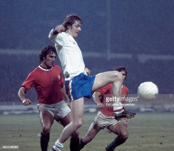 Allan Clarke of England in action against Portugal during the European Championship Qualifying match at Wembley Stadium in London on 20th November...