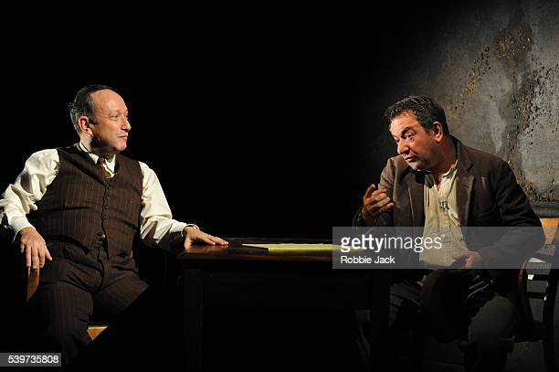 Allan Corduner as Alfieri and Ken Stott as Eddie in Arthur Miller's play A View From The Bridge directed by Lindsay Posner at the Duke of York's...