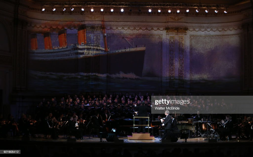 Allan Corduner with Titanic tribute during the Manhattan Concert Productions Broadway Classics in Concert at Carnegie Hall on February 20, 2018 at Carnegie Hall in New York City.