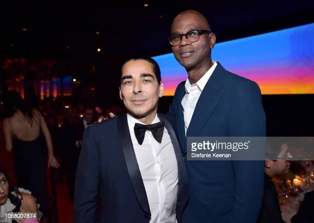 Allan DiCastro and Mark Bradford attend 2018 LACMA Art Film Gala honoring Catherine Opie and Guillermo del Toro presented by Gucci at LACMA on...