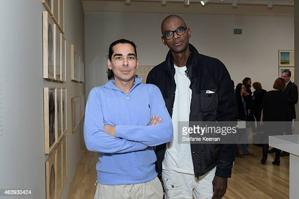 Allan DiCastro and Mark Bradford attend Hammer Museum's Provocations Presented In Partnership With Burberry Members' Opening on February 19 2015 in...