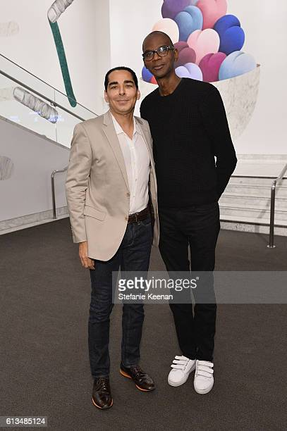 Allan DiCastro and Mark Bradford attend the Hammer Museum 14th Annual Gala In The Garden with generous support from Bottega Veneta at Hammer Museum...