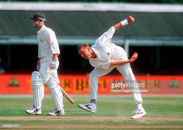 Allan Donald bowling for Warwickshire during the Benson and Hedges Super Cup Quarter Final between Leicestershire and Warwickshire at Grace Road...