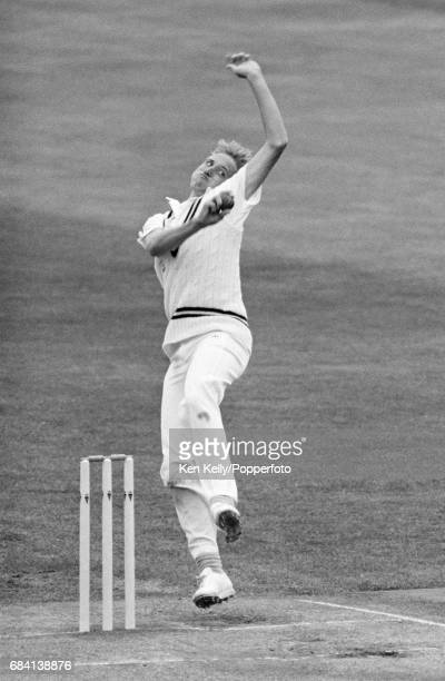 Allan Donald bowling for Warwickshire during the Benson and Hedges Cup group match between Warwickshire and Worcestershire at Edgbaston Birmingham...