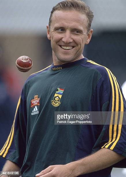 Allan Donald of South Africa before the 1st Test match between England and South Africa at Edgbaston Birmingham 3rd June 1998