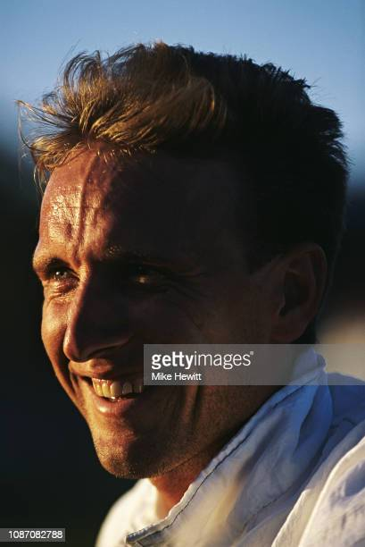 Allan Donald of South Africa looks on during a warm up match between a South African Invitational XI and India at Sprinbok Park on November 23 1992...