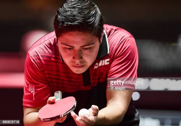 Allan Guitierrez of Guatemala in action during the Table Tennis World Championship at Messe Duesseldorf on May 29, 2017 in Dusseldorf, Germany.
