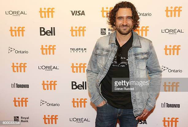 TORONTO ON SEPTEMBER 7 Allan Hawco on the red carpet at the annual Toronto International Film Festival Soiree fundraiser at the TIFF Bell Lighthouse...