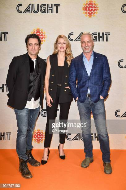 Allan Hawco Tori Anderson and Paul Gross attend CBC hosts world premiere of 'Caught' at TIFF Bell Lightbox on February 26 2018 in Toronto Canada
