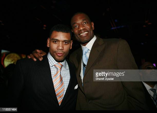 Allan Houston and Dikembe Mutombo during NBA Players Association Gala at Convention Center in Houston Texas United States