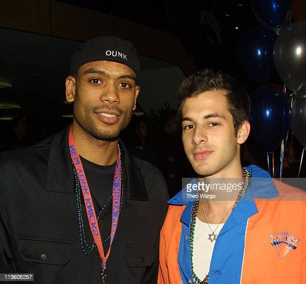Allan Houston and Mark Ronson during Knicks Bowl 2 will benefit the Red Holzman Knicks Kids Foundation at Chelsea Piers in New York City New York...