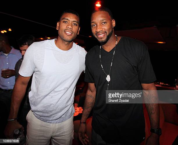 Allan Houston and Tracy McGrady attends the 2010 Celebrity Bowling Tournament Party at Lucky Strike on August 27 2010 in New York City