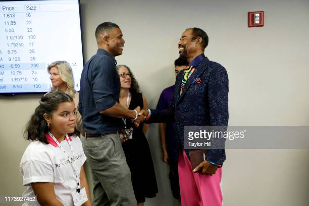 """Allan Houston and Walt """"Clyde"""" Frazier attend Annual Charity Day Hosted By Cantor Fitzgerald, BGC and GFI - BGC Office – Inside on September 11, 2019..."""