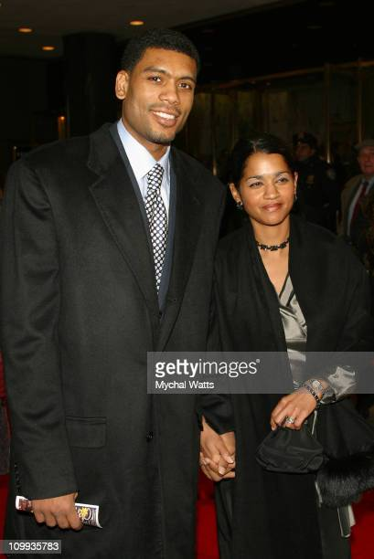 Allan Houston and wife during Opening Night of Baz Luhrmann's Production of Puccini's La Boheme Arrivals at Broadway Theater in New York City New...