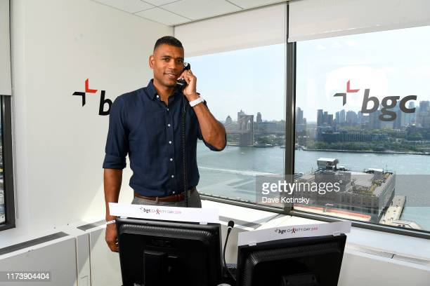 Allan Houston attends Annual Charity Day Hosted By Cantor Fitzgerald BGC and GFI BGC Office – Inside on September 11 2019 in New York City