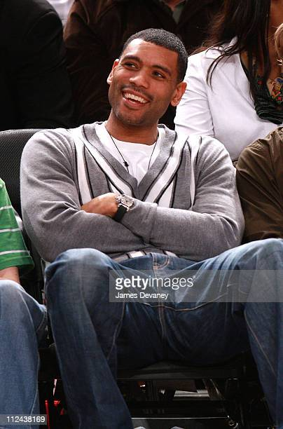 Allan Houston attends Memphis Grizzlies vs NY Knicks game at Madison Square Garden on March 21 2008 in New York City