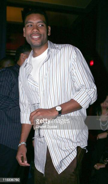 Allan Houston during Allen Houston Retirement Party at Supper Club in New York City New York United States