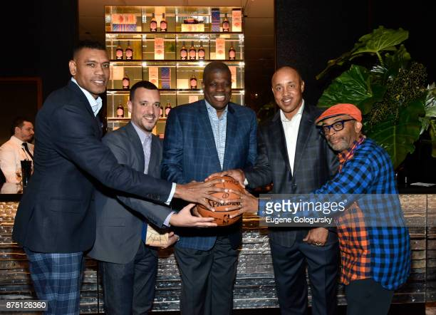 Allan Houston Jason Negron Bernard King John Starks and Spike Lee at the launch of Jose Cuervo Reserva De La Familia Hardwood Edition A...