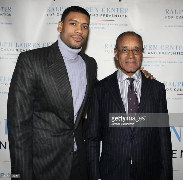 Allan Houston with Dr Harold Freeman President and founder of the Ralph Lauren Center for Cancer Care and Prevention