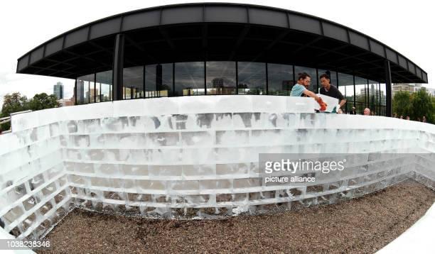 Allan Kaprow's art work 'Fluids' is presented in front of the National Gallery during the Berlin Art Week in Berlin Germany 15 September 2015 Almost...