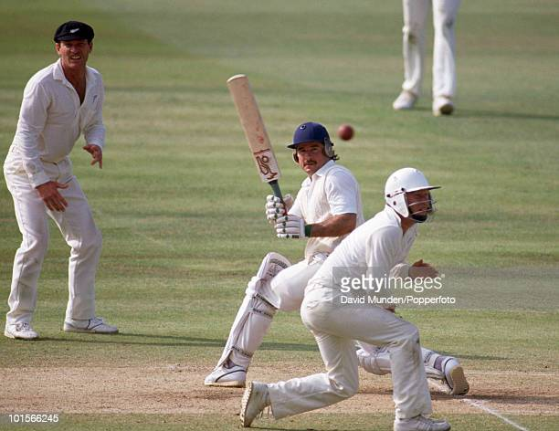 Allan Lamb batting during his innings of 84 not out for England on the fifth day of the 2nd Test match between England and New Zealand at Lord's...