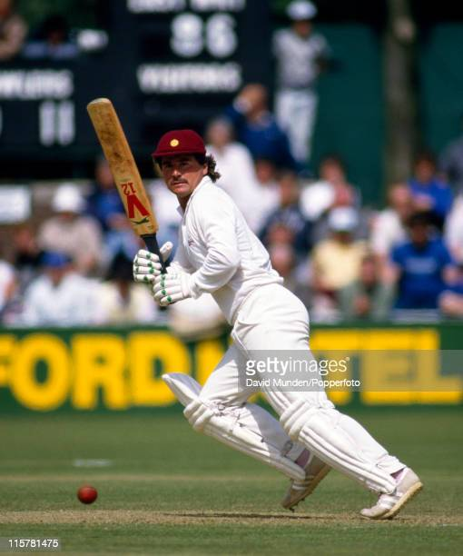 Allan Lamb batting for Northamptonshire during their Benson and Hedges Cup quarterfinal against Worcestershire at New Road in Worcester 28th May 1986...