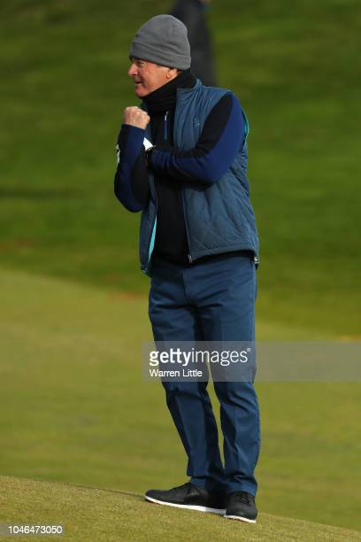 Allan Lamb looks on from the 12th hole during day three of the 2018 Alfred Dunhill Links Championship at Kingsbarns Golf Club on October 6 2018 in...