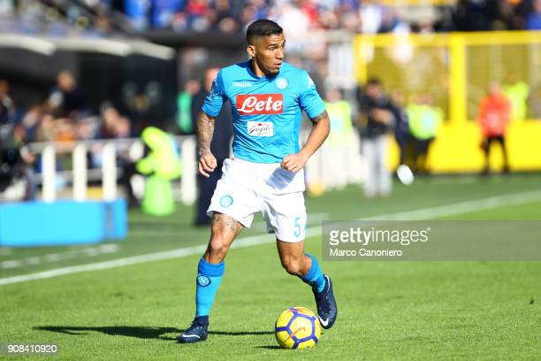 Allan Marques Loureiro of Ssc Napoli in action during the Serie A football match between Atalanta Bergamasca Calcio and Ssc Napoli Ssc Napoli wins 10...